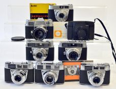 Group of Kodak Cameras, inc Retinette etc.