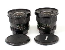 Canon FD 17mm & 20mm Ultra Wide Angle Lenses.