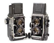 Mamiyaflex C220 Professional & Professional F TLRs.