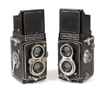 Two Rolleiflex TLR Cameras.