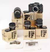 Nikon F3 Film Camera Outfit.