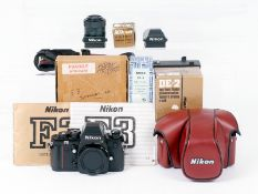 Nikon F3 HP Film Camera & Accessories.