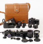 Pentax 110 & Super 110 Mini SLR Cameras & Lenses.