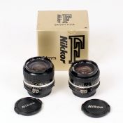Nikkor 20mm & 24mm Wide Angle, Manual Focus Lenses.
