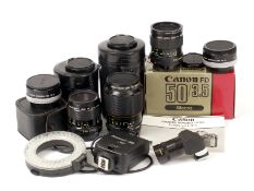 Canon FD Macro & and Close-up Lenses.