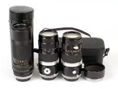 Three Canon FL Zoom Lenses.