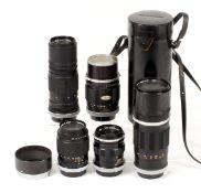 Group of Five Canon FL Telephoto Lenses.