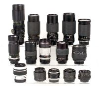 End Lot of Lenses, including Canon FL 50mm f1.8.