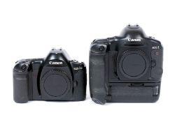 Two Canon EOS-1 Film Cameras.