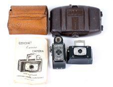 Three Sub-Miniature Coronet Bakelite Cameras.