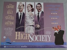 High Society BFI British quad film poster in excellent rolled condition picturing Bing Crosby, Grace