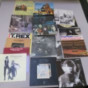 Collection of vinyl records including The Who Quadrophenia, Led Zeppelin, Jimmy Page, Deep Purple, T