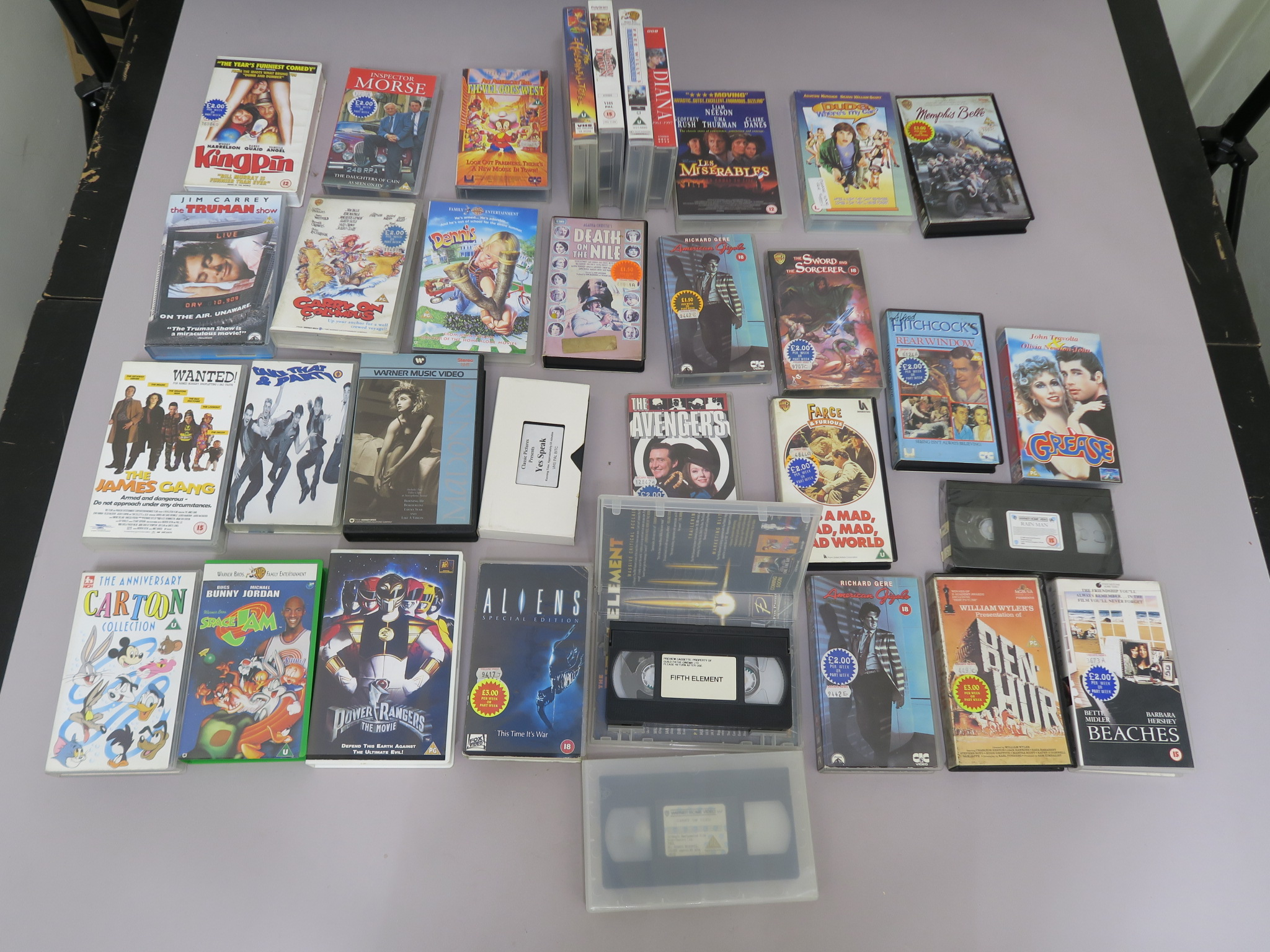 Lot 27 - Quantity of VHS videos directly from Oscars Video and Kennedy video and comprising mainly ex-