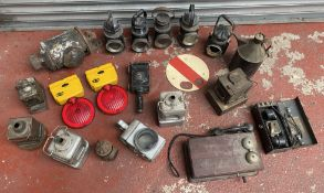 Collection of railway lamps etc. (20)