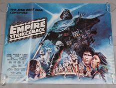 "Star Wars ""The Empire Strikes Back"" 1979 original British Quad film poster 30 x 40 inch, with"