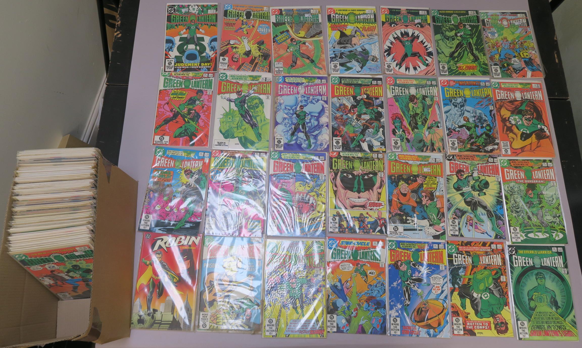 Lot 19 - Green Lantern DC comics collection including Green Lantern nos 146, 150, 152, 153, 154, 155, 156,