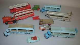 11x Dinky and Dinky Supertoys unboxed diecast models including Austin Atlantic and #382 Pullmore Car