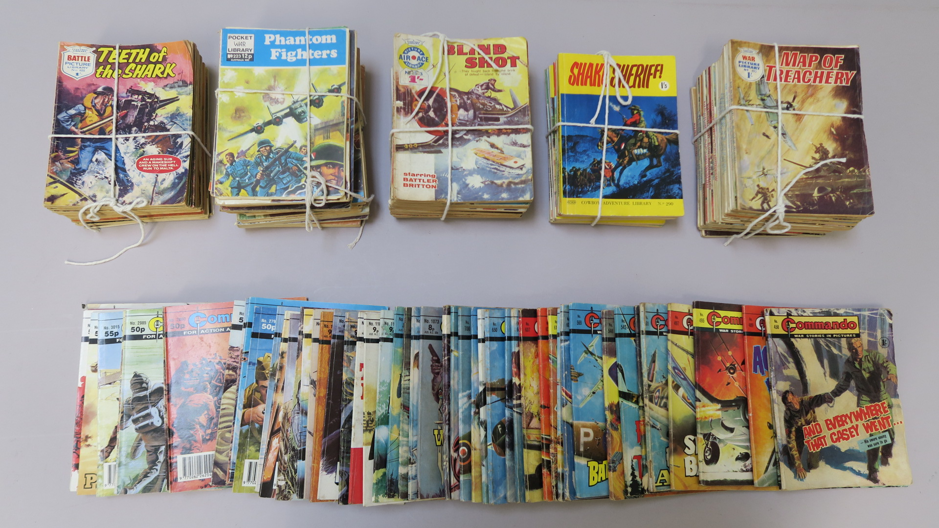 Lot 20 - Collection of Commando comics (52), War Picture Library (23), Air Ace (18), Battle Picture