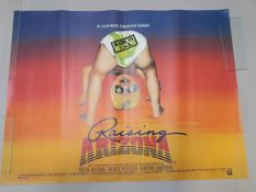 Raising Arizona 6 rolled British Quad film posters from 1987 from Ethan and Joel Coen Brothers