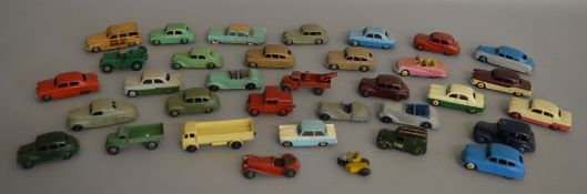 34x Unboxed Dinky Toys including #261 telephone Service Van, #40J Austin Somerset etc