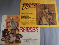 Raiders of the Lost Ark rare original 1981 first release British Quad film poster picturing Harrison