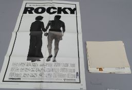 "Collection of original film posters mostly one sheets including ""Rocky"" starring Sylvester Stallone,"