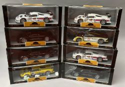 8 Chrono 1/18 scale racing car models. All boxed.