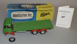 A Shackleton Foden F. G. Vehicle in green with red wheel arches. With box and instructions.