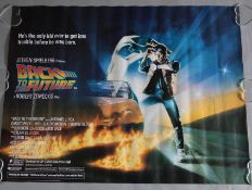 """Back to the Future"" (1985) 1st release rolled condition original British quad film poster with"