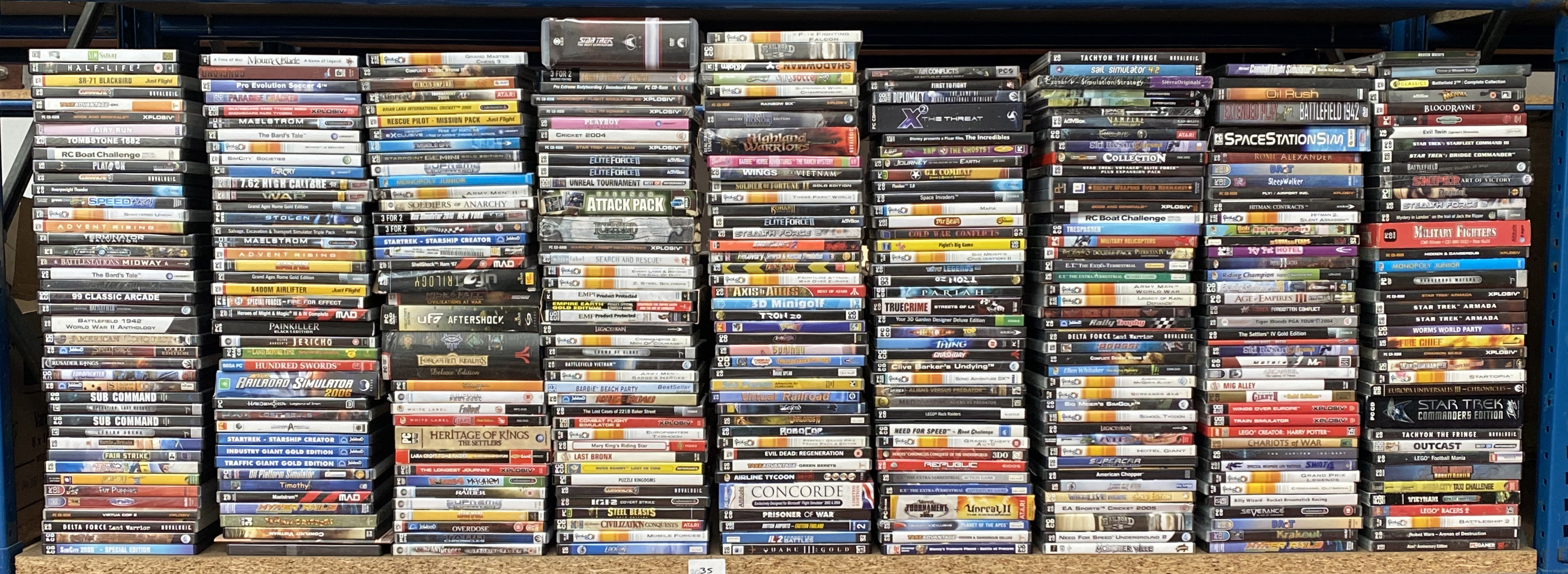 Lot 663 - More than 300 boxed PC CD-ROM personal computer games. (300+) [NO RESERVE]