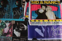 Rolled posters including UK Quads plus music promotional posters, Quads include Sid & Nancy (Sex