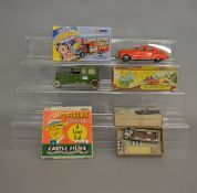 Mixed lot including boxed Triang Minic #2 Musical Car, GS models Bus Kit, Corgi Chipperfield
