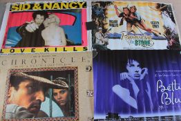 12 Rolled British Quad film posters titles - Sid & Nancy (Sex Pistols), Betty Blue 37'C in the