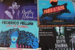 25 rolled condition British Quad film posters some double-sided. Titles include Betty Blue, Federico