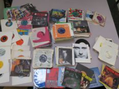 Collection of 7 inch singles (approximately 120) including the Hollies, The Montanas, Bee gees,