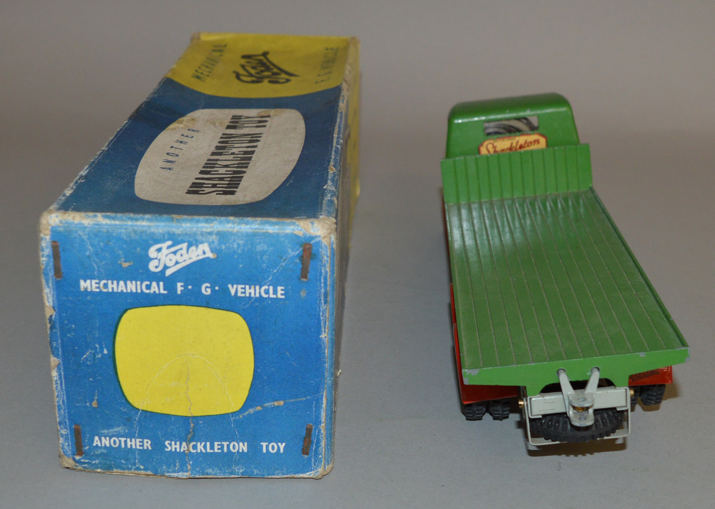 Lot 583 - A Shackleton Foden F. G. Vehicle in green with red wheel arches. With box and instructions.
