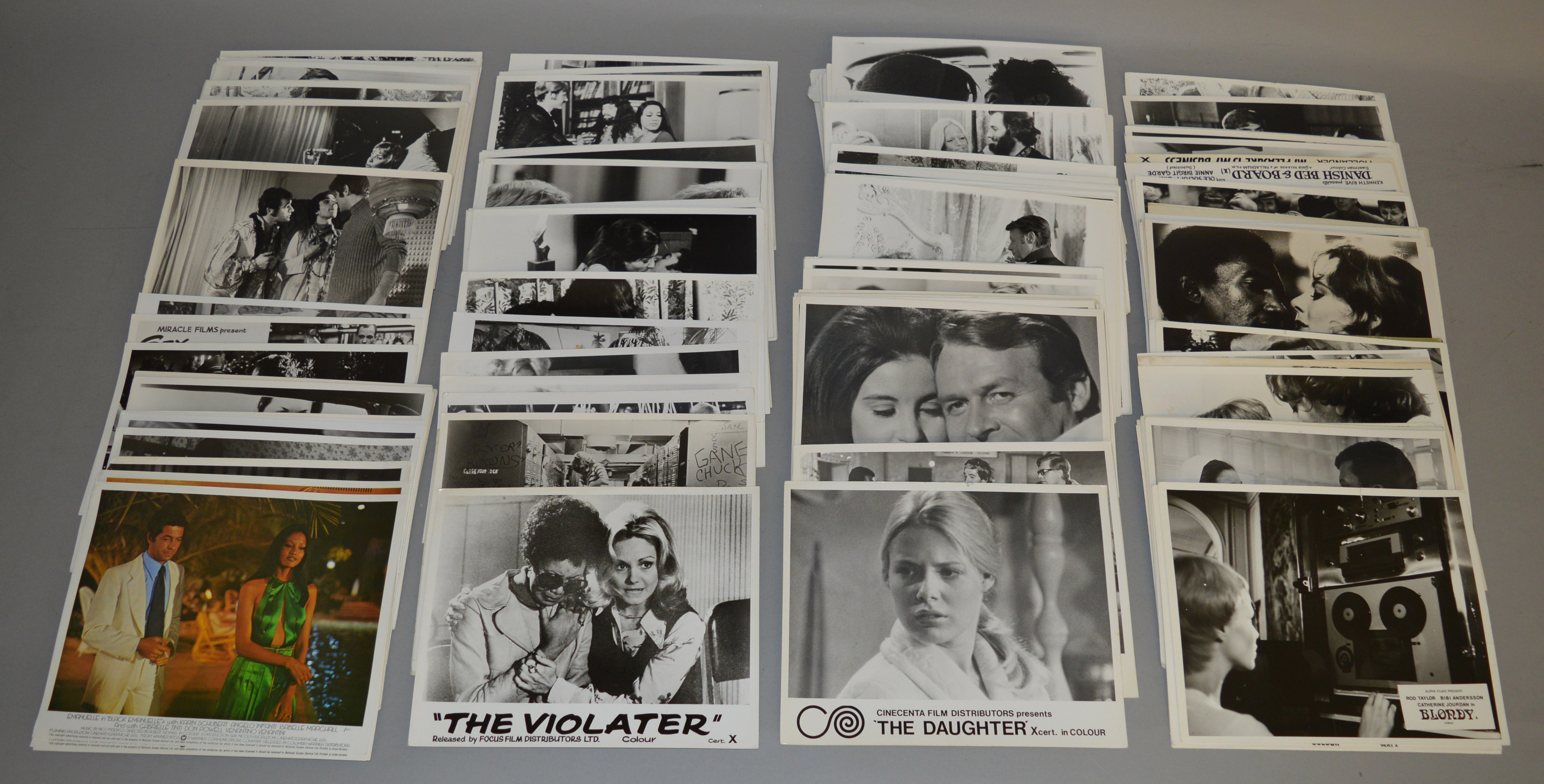 Lot 53 - 200 approx Sexploitation black & white cinema stills mainly from the 1970's titles include Black