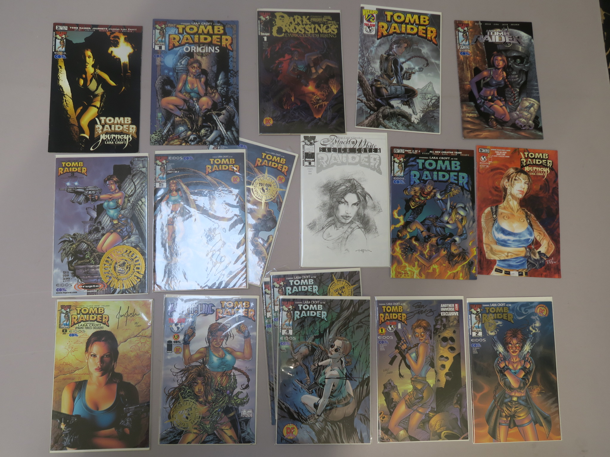 Lot 12 - Tomb Raider signed limited edition comics including #0 (signed Joe Jusko 38/1500), #1/2 (signed Andy