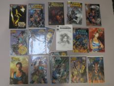 Tomb Raider signed limited edition comics including #0 (signed Joe Jusko 38/1500), #1/2 (signed Andy