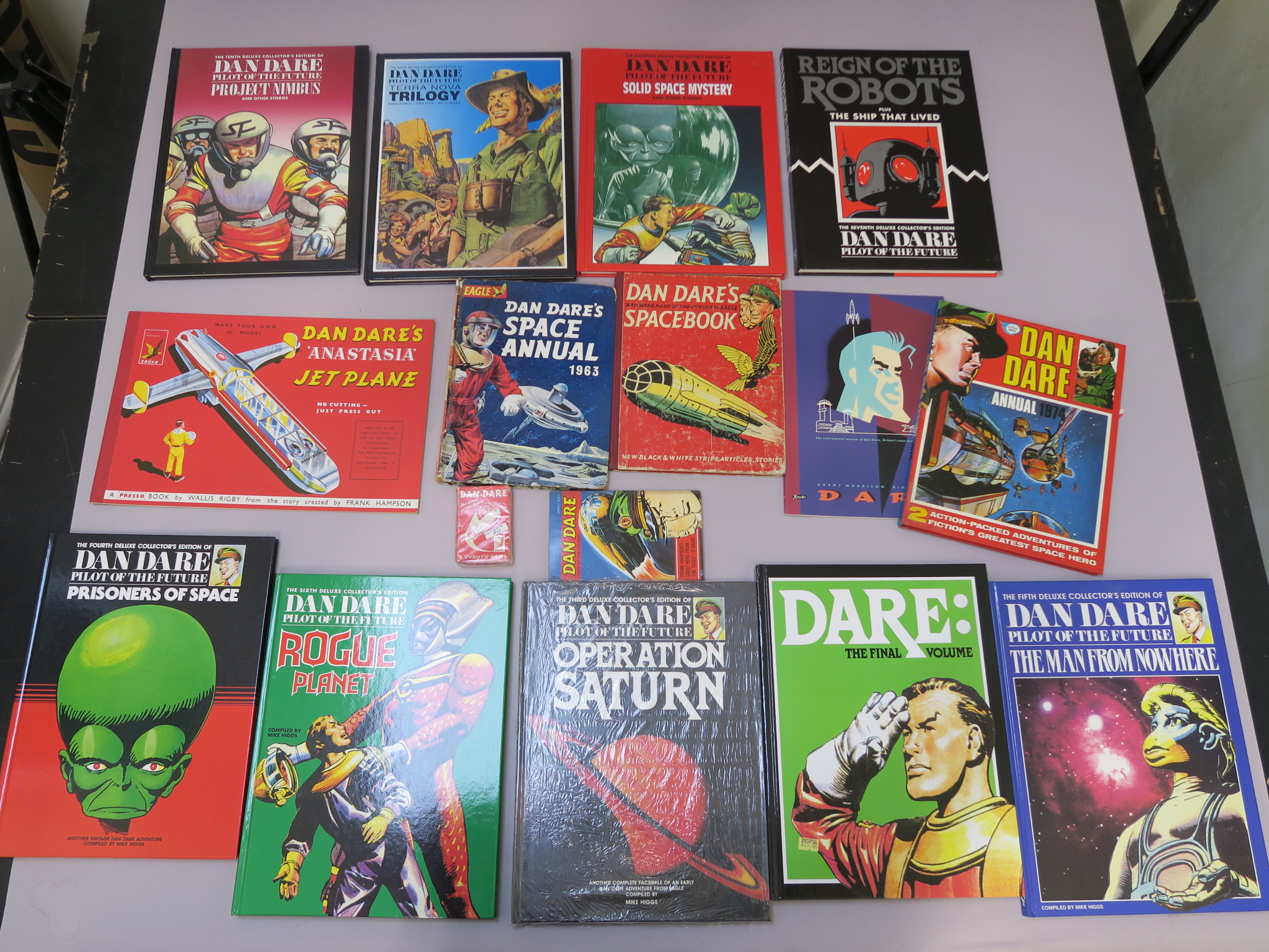 Lot 42 - Dan Dare large collection including many deluxe collectors edition hardback Dan Dare books with