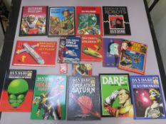 Dan Dare large collection including many deluxe collectors edition hardback Dan Dare books with