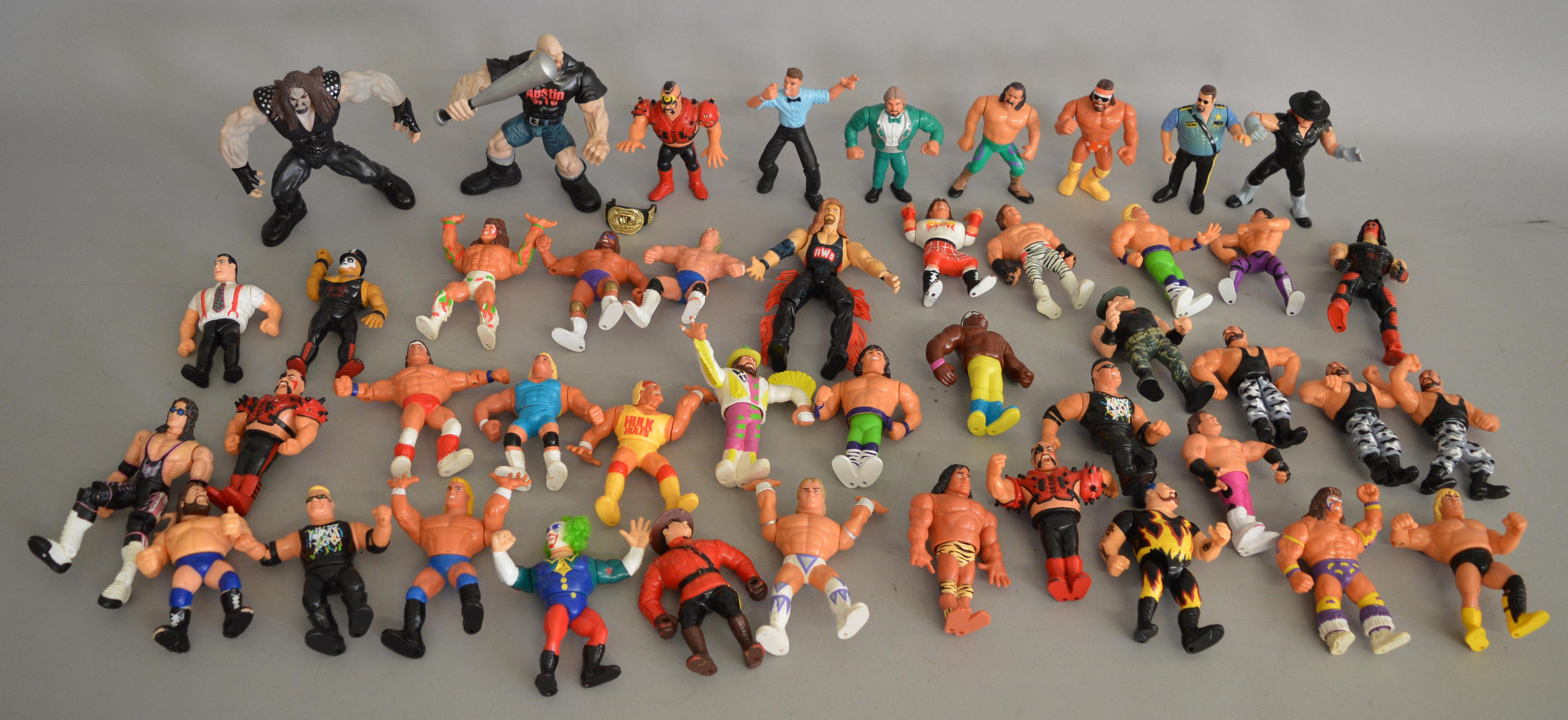 Lot 623 - Agood quantity of Wrestling Figures, WWE/ WWF/ WCW