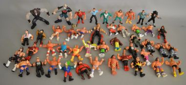 Agood quantity of Wrestling Figures, WWE/ WWF/ WCW