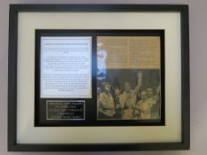 Rocky Marciano original autograph of the unbeaten World Heavyweight Champion. The autograph is on