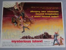 Mysterious Island original rare first release 1961 British Quad film poster based on the novel by
