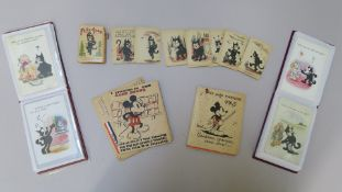 """Felix-Snap"" 1920s boxed cat card game made in Germany with original box and instructions (box shows"