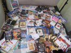 VHS video sleeves many in Rexel folders inc first release James Bond ex-rental, promotion sleeves