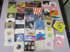 Collection of 7 inch singles (approximately 100) including The Stranglers, Thin Lizzy, Wizzard,