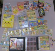 Pokemon trading card collection including shiny cards for Mewtwo, Hypno, Aerodactyl, Gyarados,
