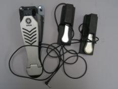 3 Kick Pedals - Yamaha HH65, VFP 1 and Roland make. (3)
